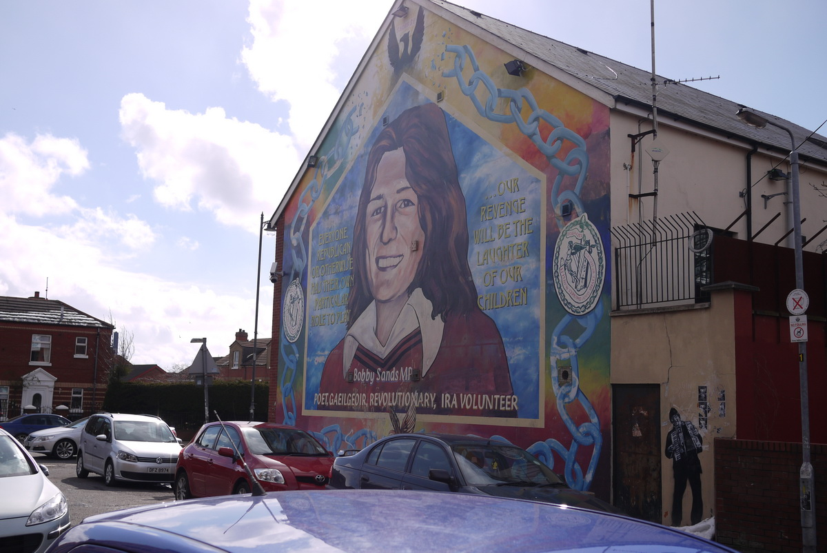The trouble with the troubles around the world in 80 frames for Bobby sands mural